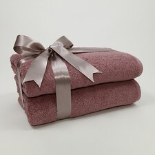 Luxury Hotel & Spa 100% Turkish Cotton Soft Twist Bath Towel (Set of 2)