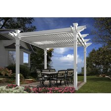 "Avalon 8'8"" H x 10' W x 10' D Louvered Pergola"