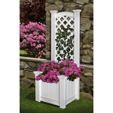 <strong>New England Arbors</strong> Kensington Rectangular Box Planter Trellis