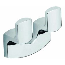 <strong>Moda Collection</strong> Movin Double Robe Hook in Chrome