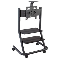 Video Conferencing Cart with 2 PAS100 Shelves