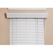 "Thermal Insulation Faux Wood Blind in White  - 54"" H"