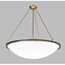 <strong>ILEX Lighting</strong> Regent Bowl Pendant with Triple Stem