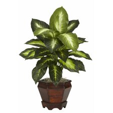 <strong>Nearly Natural</strong> Dieffenbachia Silk Desk Top Plant in Pot (Set of 2)