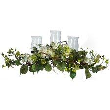 Hydrangea Triple Candleholder in Cream
