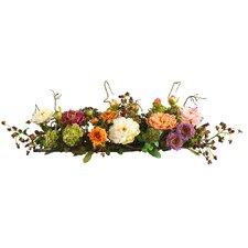 Silk Flower Mixed Peony Centerpiece