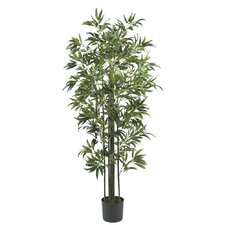 "72"" Silk Bamboo Tree in Green"