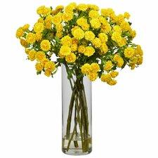 Japanese Silk Flower Arrangement in Yellow