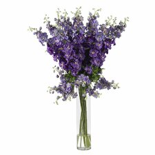 Delphinium Silk Flower Arrangement in Purple