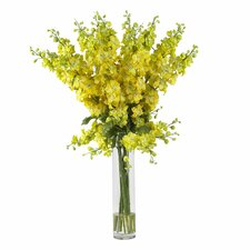 Delphinium Silk Flower Arrangement in Yellow