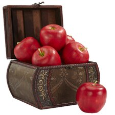 Faux Apple Figurine (Set of 6)