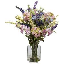 Lavender & Hydrangea Silk Flower Arrangement