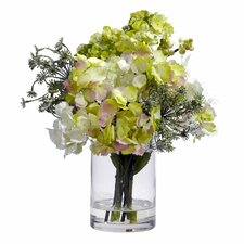 <strong>Nearly Natural</strong> Hydrangea Silk Flower Arrangement