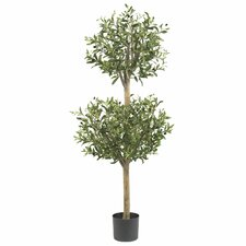 <strong>Nearly Natural</strong> Olive Double Round Topiary in Pot