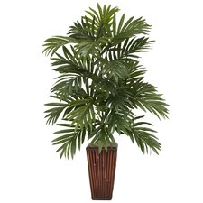 <strong>Nearly Natural</strong> Areca Palm Desk Top Plant in Decorative Vase