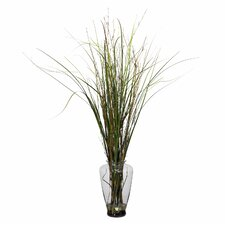 <strong>Nearly Natural</strong> Grass and Bamboo Floor Plant in Decorative Vase