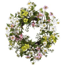 "<strong>Nearly Natural</strong> 20"" Dogwood Wreath"