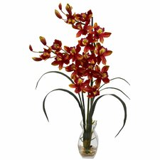 Cymbidium Orchid with Vase Arrangement