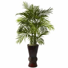 Nearly Natural ArecaFloor Plant in Decorative Vase