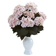 Hydrangea with White Vase