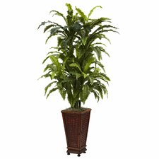 Nearly Natural Marginatum Floor Plant in Decorative Vase