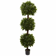 <strong>Nearly Natural</strong> Sweet Bay Triple Ball Topiary in Pot