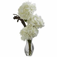 Triple Hydrangea with Vase