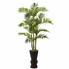 Nearly Natural Areca Tree in Planter