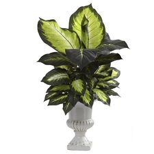 <strong>Nearly Natural</strong> Dieffenbachia Desk Top Plant in Urn