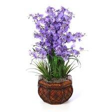 Dancing Lady Silk Flower Arrangement in Purple