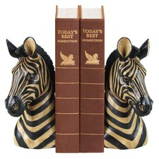 Zebra Book Ends (Set of 2)