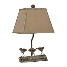 Little Birds on Log Table Lamp