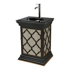 "26"" Mariposa Mirrored Vanity Set with Moorish Pattern"