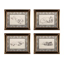 Sleeping Dogs 4 Piece Framed Graphic Art Set
