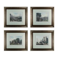 Tranquil Countryside 4 Piece Framed Graphic Art Set