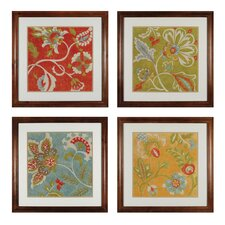 Provincial Chintz 4 Piece Framed Graphic Art Set