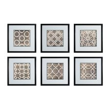 Symmetry Blueprint 6 Piece Framed Graphic Art Set