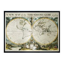 <strong>Sterling Industries</strong> Oxford Map of Terrqueous Globe Wall Art
