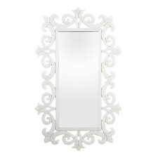 Scroll Work Framed Mirror