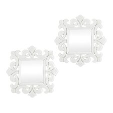 Scroll Work Framed Mirror (Set of 2)
