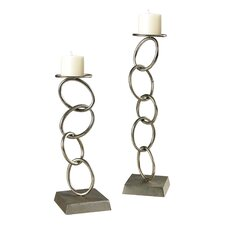 2 Piece Chain Candle Holder Set