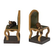 <strong>Sterling Industries</strong> Cat on Chair Book Ends (Set of 2)