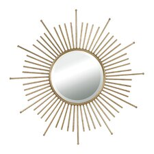 Lodge Mid Century Sunburst Wall Mirror