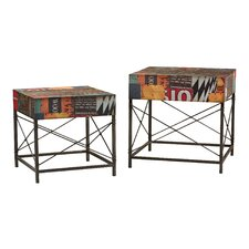 2 Piece Metal Table Set