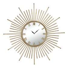 "Lodge Mid Century Style Oversized 34"" Wall Clock"