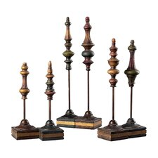 6 Piece Finial Figurine