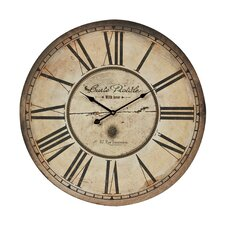 "23.6"" Carte Postal Wall Clock"