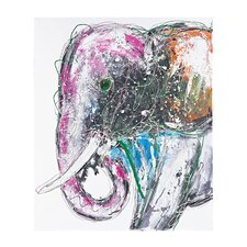 <strong>Sterling Industries</strong> Bold Elephant Oversized Oil Canvas Wall Art