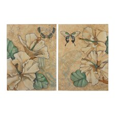 2 Piece Painting Print Plaque Set