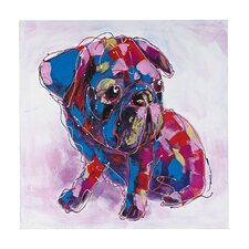Bold Puppy Oversized Oil Painting Print on Canvas
